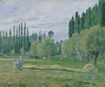 haymaking 1874 Camille Pissarro Oil Paintings