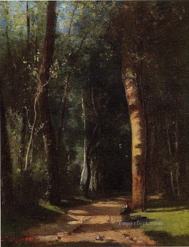 in the woods Camille Pissarro Oil Paintings