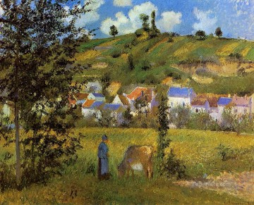 landscape at chaponval 1880 Camille Pissarro Oil Paintings