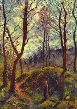 Camille Pissarro Painting - landscape with big trees Camille Pissarro