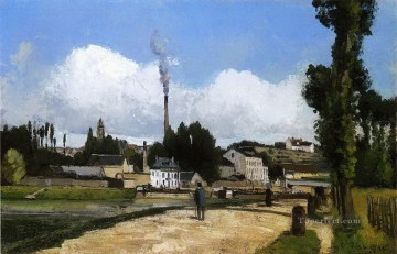 landscape with factory 1867 Camille Pissarro Oil Paintings