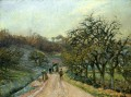 lane of apple trees near osny pontoise 1874 Camille Pissarro