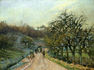 lane of apple trees near osny pontoise 1874 Camille Pissarro Oil Paintings