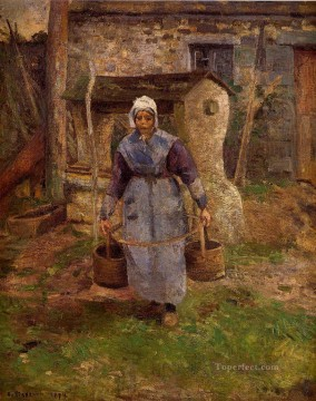 Mother Art - mother presle montfoucault 1874 Camille Pissarro