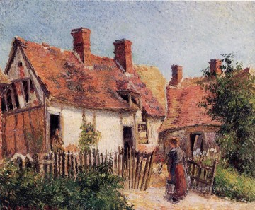 old houses at eragny 1884 Camille Pissarro Oil Paintings