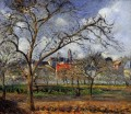 on orchard in pontoise in winter 1877 Camille Pissarro