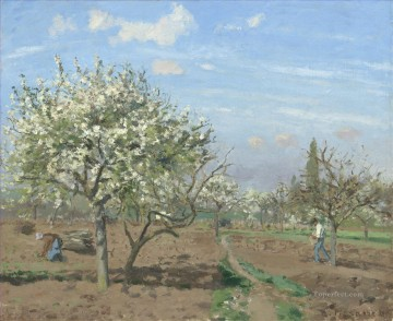 blossom Painting - orchard in blossom louveciennes 1872 Camille Pissarro