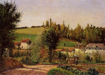 path of hermitage at pontoise 1872 Camille Pissarro Oil Paintings