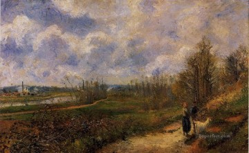 path to le chou pontoise 1878 Camille Pissarro Oil Paintings