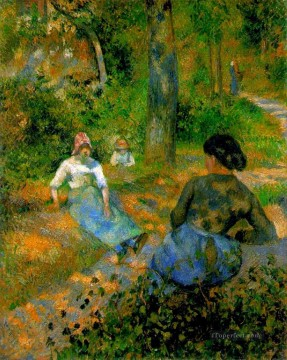 peasants resting 1881 Camille Pissarro Oil Paintings