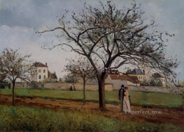 Camille Pissarro Painting - pere gallien s house at pontoise 1866 Camille Pissarro