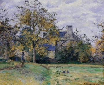 piette s home on montfoucault 1874 Camille Pissarro Oil Paintings
