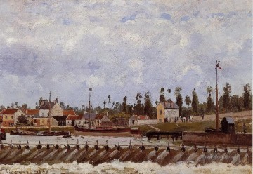 pontoise dam 1872 Camille Pissarro Oil Paintings
