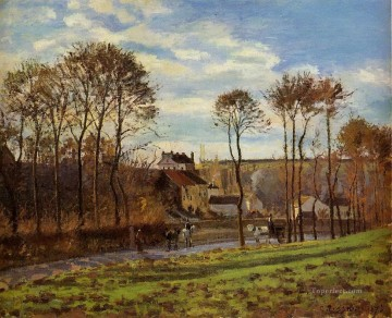 pontoise les mathurins 1873 Camille Pissarro Oil Paintings