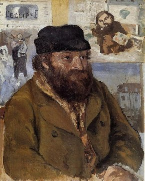Cezanne Art Painting - portrait of paul cezanne 1874 Camille Pissarro