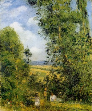 Rest Painting - resting in the woods pontoise 1878 Camille Pissarro