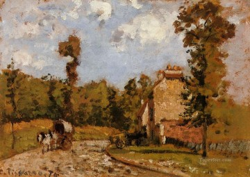 mary Painting - road in port maryl 1872 Camille Pissarro