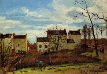 spring at pontoise 1872 Camille Pissarro Oil Paintings