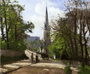 1870 Canvas - st stephen s church lower norwood 1870 Camille Pissarro