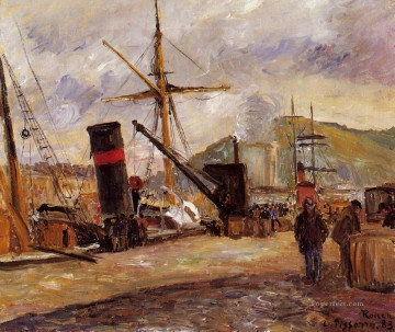 1883 Works - steamboats 1883 Camille Pissarro