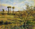 sunset at valhermeil near pontoise 1880 Camille Pissarro