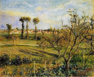 Sunset Art - sunset at valhermeil near pontoise 1880 Camille Pissarro