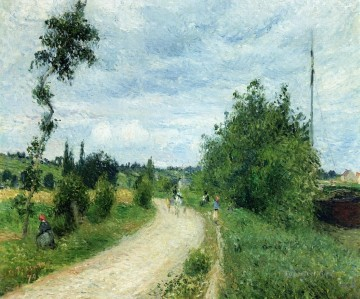 the auvers road pontoise 1879 Camille Pissarro Oil Paintings