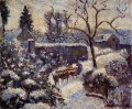 the effect of snow at montfoucault 1891 Camille Pissarro