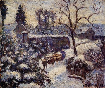 snow Works - the effect of snow at montfoucault 1891 Camille Pissarro