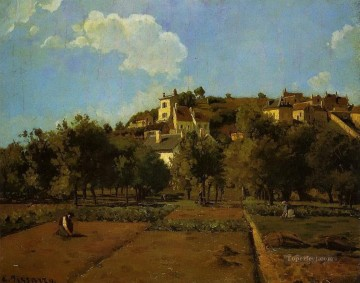 the gardens of l hermitage pontoise Camille Pissarro Oil Paintings