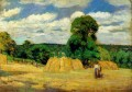the harvest at montfoucault 1876 Camille Pissarro