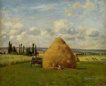 Camille Canvas - the haystack pontoise 1873 Camille Pissarro