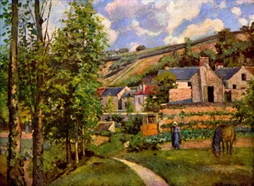 1874 Works - the hermitage at pontoise 1874 Camille Pissarro