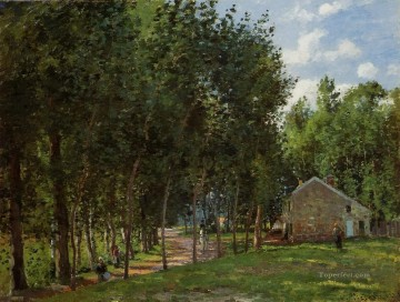 forest Painting - the house in the forest 1872 Camille Pissarro