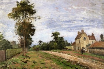 1870 Canvas - the house of monsieur musy louveciennes 1870 Camille Pissarro