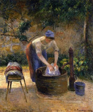 the laundry woman 1879 Camille Pissarro Oil Paintings