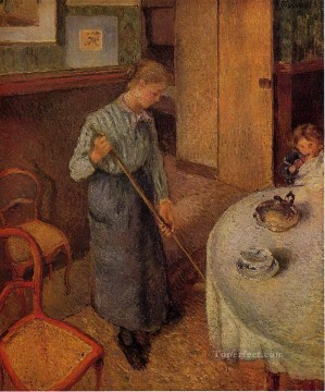 Maid Works - the little country maid 1882 Camille Pissarro