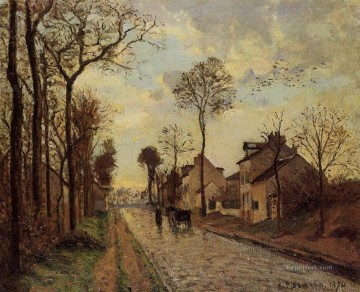 Road Oil Painting - the louveciennes road 1870 Camille Pissarro