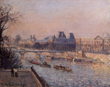 Afternoon Works - the louvre afternoon 1902 Camille Pissarro
