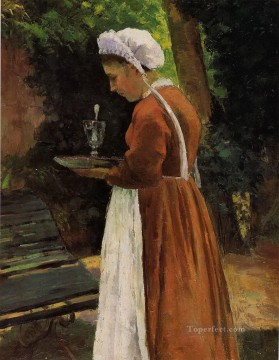 Maid Works - the maidservant 1867 Camille Pissarro