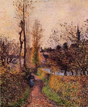 the path of basincourt 1884 Camille Pissarro Oil Paintings