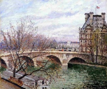 the pont royal and the pavillion de flore Camille Pissarro Oil Paintings