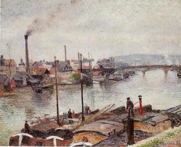 1883 Works - the port of rouen 2 1883 Camille Pissarro