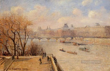the raised terrace of the pont neuf 1902 卡米耶·毕沙罗油画、国画