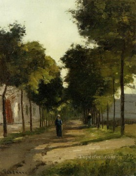 Road Oil Painting - the road 1 Camille Pissarro
