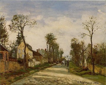 Road Oil Painting - the road to versailles at louveciennes 1870 Camille Pissarro