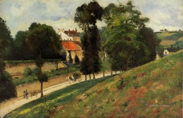 Road Oil Painting - the saint antoine road at l hermitage pontoise 1875 Camille Pissarro