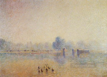 the serpentine hyde park fog effect 1890 Camille Pissarro Oil Paintings