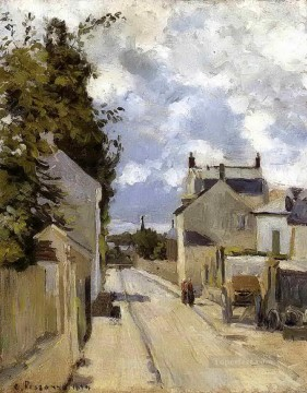 Camille Pissarro Painting - the street of hermitage pontoise 1874 Camille Pissarro