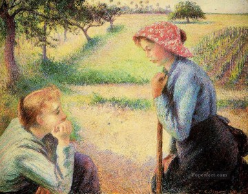 the talk 1892 Camille Pissarro Oil Paintings